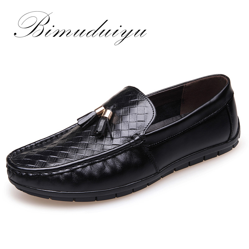 BIMUDUIYU Luxury Brand High Quality Genuine Leather Men Casual Driving  Shoes Breathable Soft Moccasins Loafers Flat Shoes Men 2017 new brand breathable men s casual car driving shoes men loafers high quality genuine leather shoes soft moccasins flats