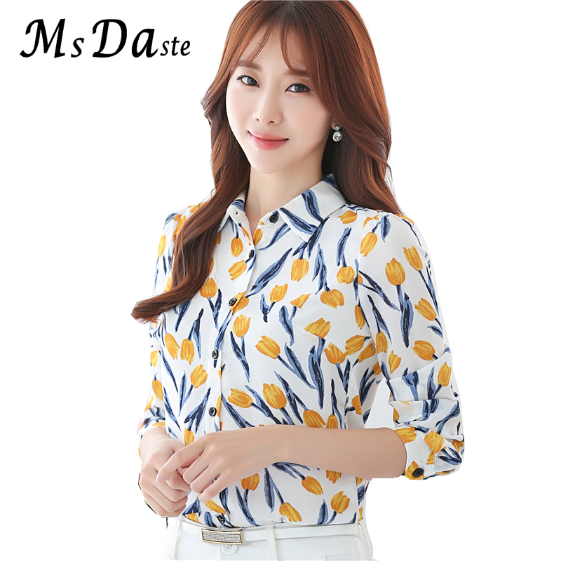 2017 Fashion Formal Blouses Autumn Wear Full Long Sleeve Office Lady Work Wear Chiffon W ...