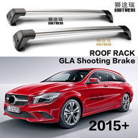 2 pcs For Mercedes Benz CLA Shooting Brake Wagon 2015+ roof bar car special aluminum alloy belt lock Led shooting cla coup