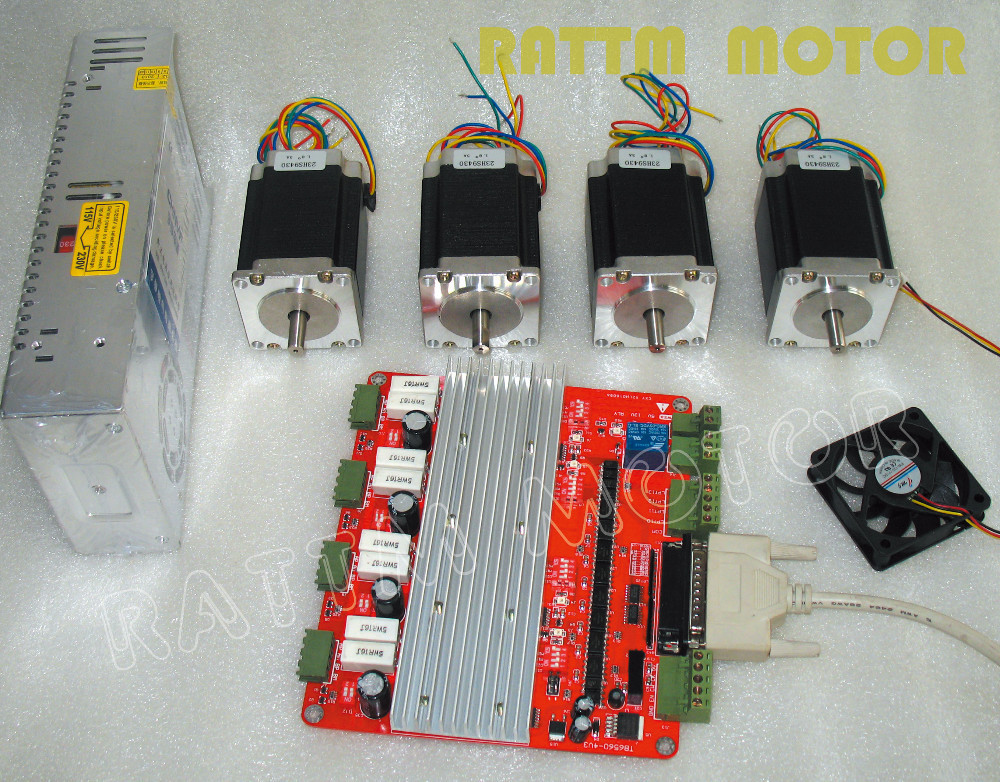 3 axis CNC kit 3 NEMA23 165 oz-in stepper motor + ...