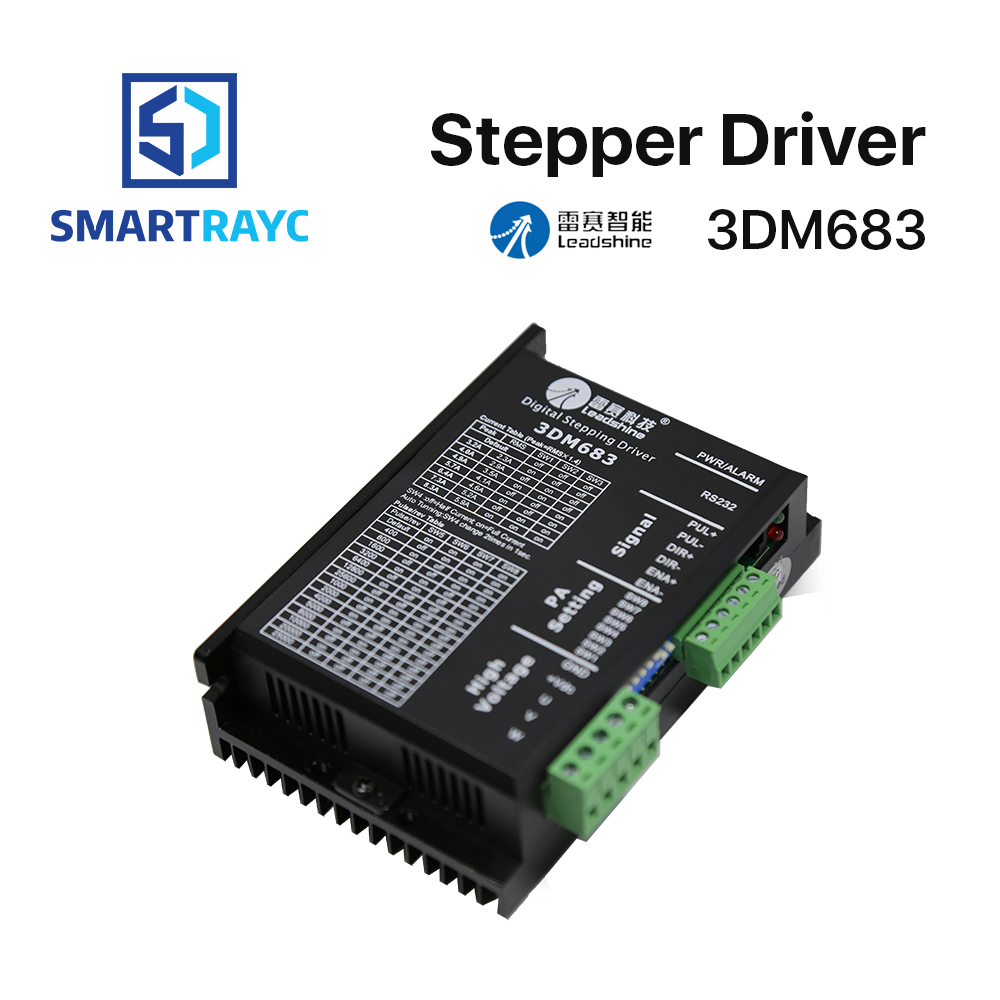 Smartrayc Leadshine 3 Phase 3DM683 Stepper Motor Driver 20-60VDC 0.5-8.3ASmartrayc Leadshine 3 Phase 3DM683 Stepper Motor Driver 20-60VDC 0.5-8.3A