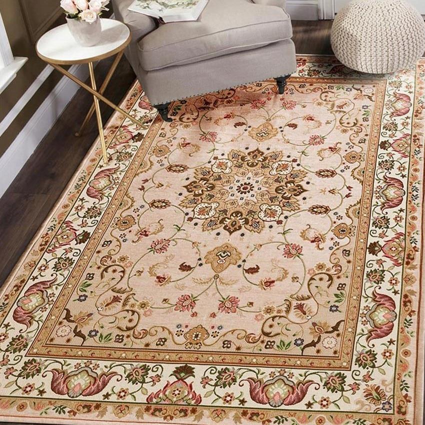 레트로 스타일 클래식 카펫 큰 크기 거실 커피 테이블 카펫, 사각형 지상 매트, 페르시아어 가정 장식 매트-에서카펫부터 홈 & 가든 의  그룹 3