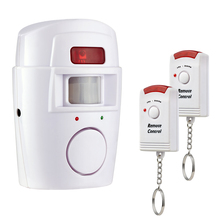 Wireless PIR/Motion Sensor Alarm + 2 Remote Controls Local Alarm Burglar 105db Siren