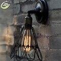 Loft Gaiola de Ferro Lâmpada de Parede E27 Edison Arandela Parede de Luz Industrial Do Vintage Corredor Luminária Para Iluminação Interna do Repouso, WL04
