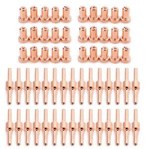60 шт. Красный медный удлиненный плазменный резак наконечник электроды и комплект сопел Mayitr расходные материалы для PT31 LG40 40A сварочный аппарат для резки