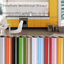Anti Oil Wall Stickers Kitchen cupboard tiles Wallpaper Painted matte solid color Heat Resistance Home Decor For 60*200cm