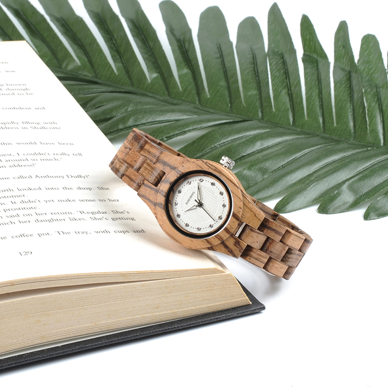 BOBO BIRD Women Watches Ladies Zebra Bamboo Wood Timepiece Casual Ladies Wristwatch relogio feminino Birthday Gift Christmas O29