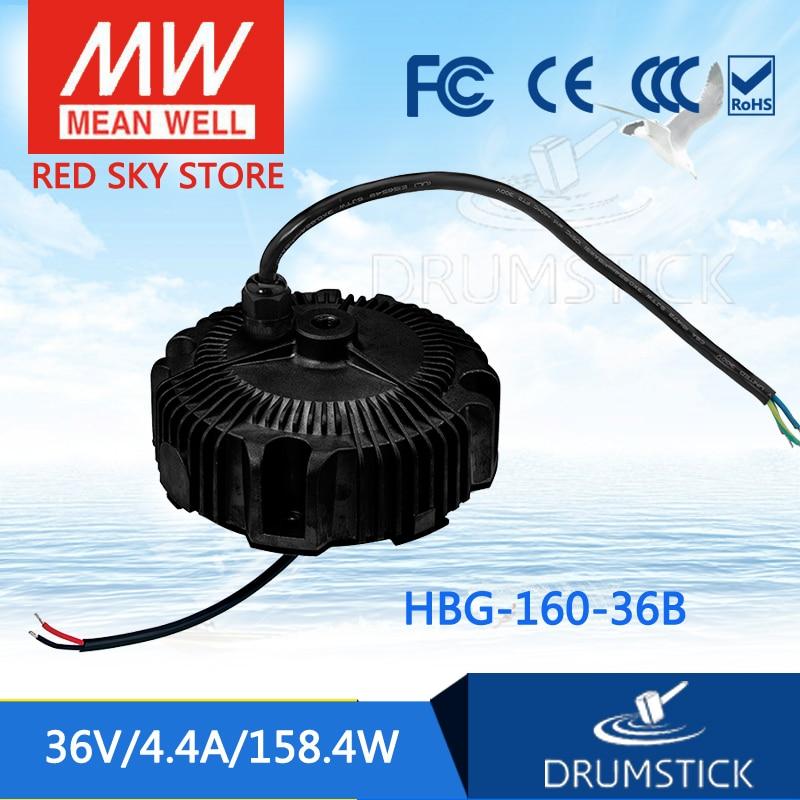 100% Original MEAN WELL HBG-160-36B 36V 4.4A meanwell HBG-160 36V 158.4W Single Output LED Driver Power Supply