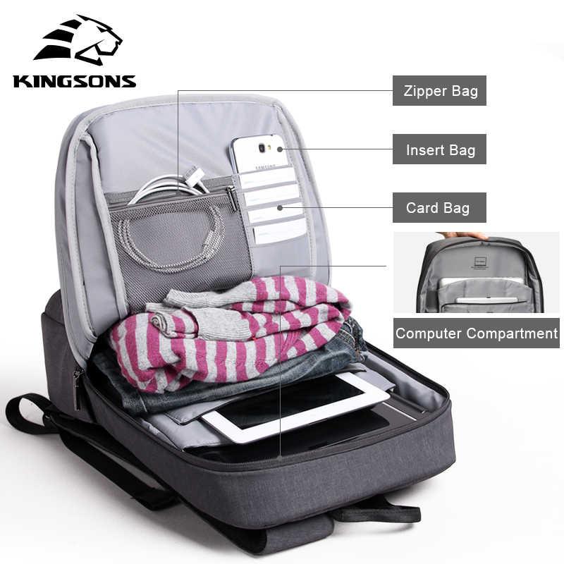 Amortecimento Celular À Prova de Choque de Ar Saco Kingsons Laptop Frasqueira Tablet Mochila Masculino & Feminino À Prova D' Água Anti-roubo de Mochila