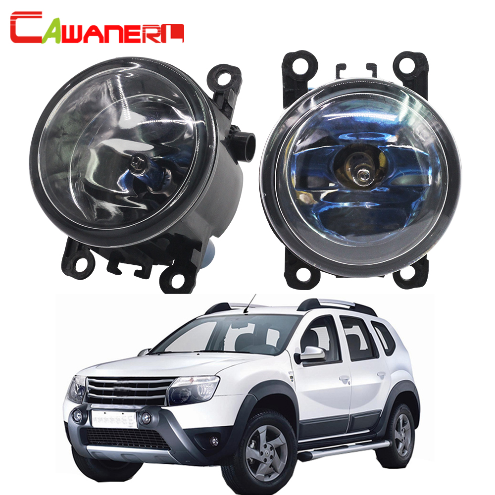 Cawanerl 2 X 100W Car Halogen Fog Light DRL Daytime Running Lamp 12V For Dacia Duster Closed Off-Road Vehicle 2010-2015 free shipping 2pcs lot car styling lamp 7443 80w daytime running light with daytime running light for dacia duster hs 2010