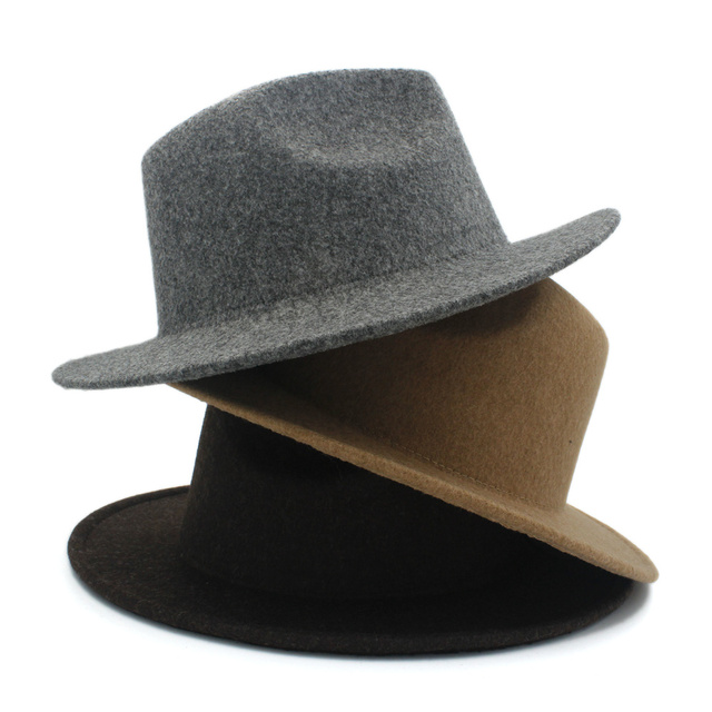 Retro Wool Women s Men s Fedora Hat For Laday Cashmere Wide Brim Jazz  Church Cap Vintage Panama Sombrero Top Hat 20 1e98baecf227