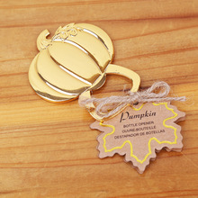 Buy wine openers wedding favors and get free shipping on 100pcs golden wedding favors gold pumpkin wine party junglespirit Image collections