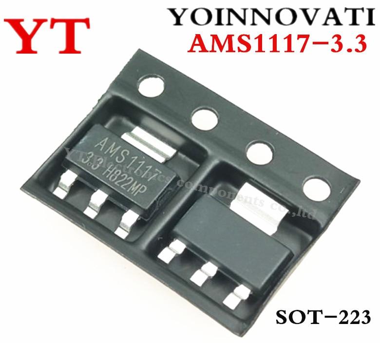 Регулятор напряжения AMS1117 LM1117 1117 3,3 В 1 А, 10 шт./лот, бесплатная доставка|voltage regulator|regulator voltage3.3v regulator | АлиЭкспресс