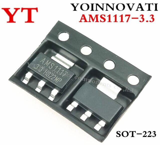 Envío gratis 10 unids/lote AMS1117-3.3 AMS1117 LM1117 1117 3,3 V 1A regulador de tensión de la mejor calidad