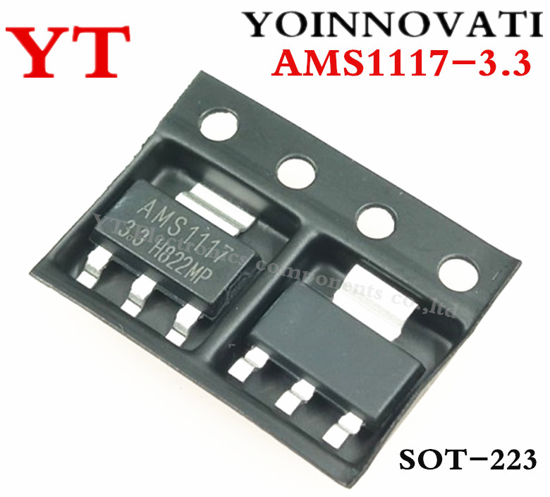 Free Shipping 10pcs/lot  AMS1117-3.3 AMS1117 LM1117 1117 3.3V 1A Voltage Regulator Best Quality