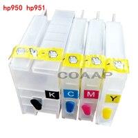 4PCS Refillable HP 950 951 Empty Cartridge For Officejet Pro 8600 E AIO Printer Permanent Chip