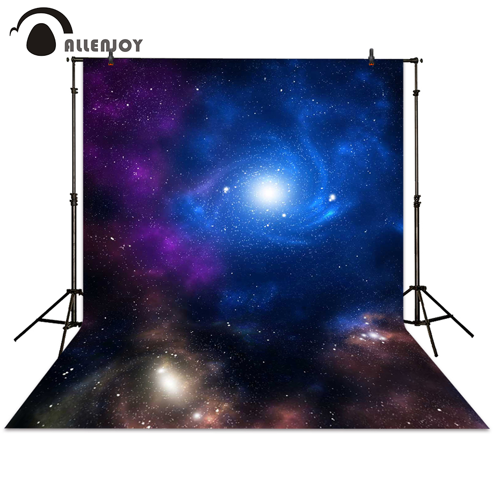 Allenjoy background photography Galaxy planet universe stars colorful backdrops photocall photographic photo studio