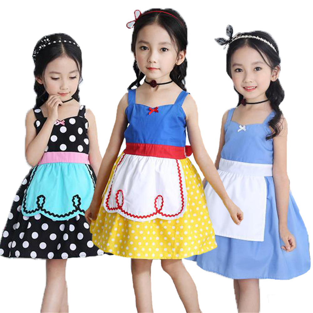 Baby Girl Dress Summer Toddler Girls Clothes Children Princess Snow White Alice Cinderella Dress Halloween Party Cosplay Costume summer girl princess elsa dress with crown children halloween snow queen cosplay costume baby toddler kids girls party clothes