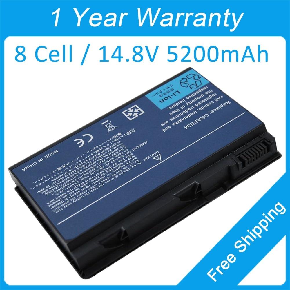 New 8 cell 5200mah laptop battery for acer TravelMate  5710 5720 5730 5220G 5520G 5530G LC.BTP00.003 LC.BTP00.005 LC.BTP00.006