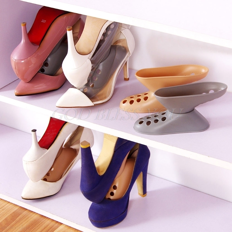 Shoes Rack Living-Room Stand-Shelf Double-Cleaning-Storage High-Heel Convenient
