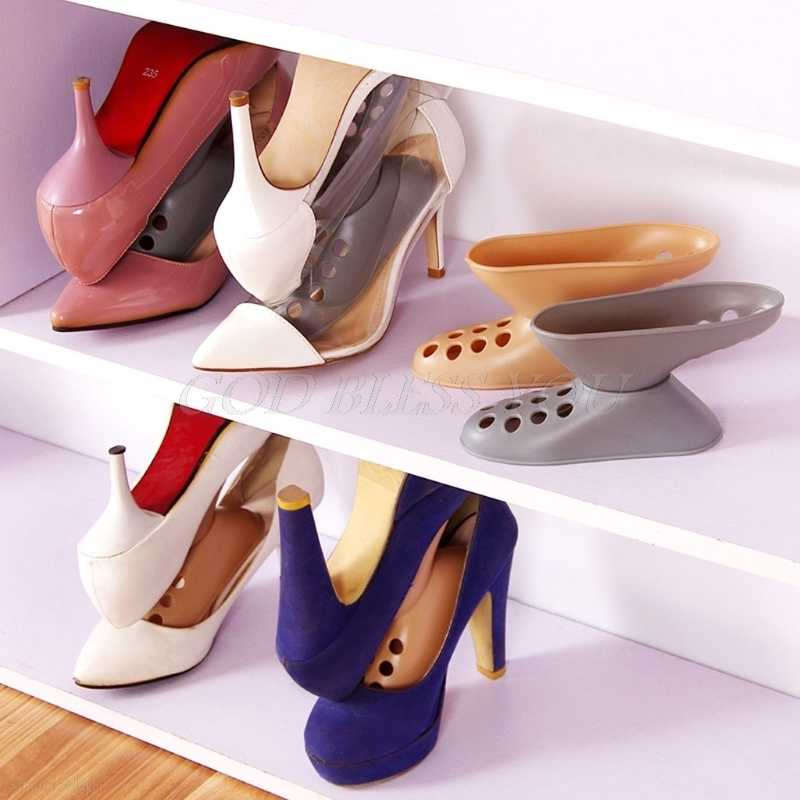Double Cleaning Storage Shoes Rack Living Room Convenient Shoe Box High Heel Shoes Organizer Stand Shelf