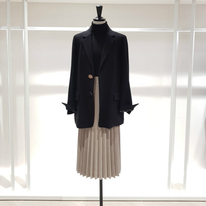 Spring And Autuml 2019 New Korean Fashion Single Row Button Chic Small Women's Blazer Jacket With Loose Casual Suit