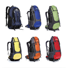 Outdoor Backpack 55L Outdoor Water Resistant Sport Backpack Hiking Bag Camping Travel Pack Mountaineer Climbing Sightseeing Hike