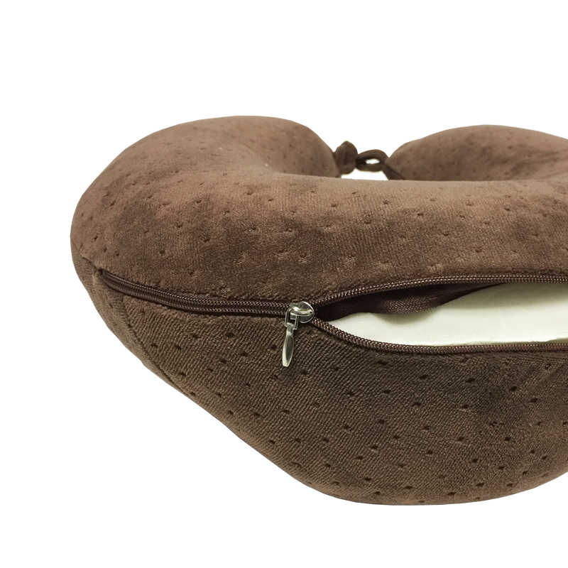 2018無地u字型低反発枕ネックuは形枕ヘッドレストカーフライトトラベルソフト看護クッション送料無料