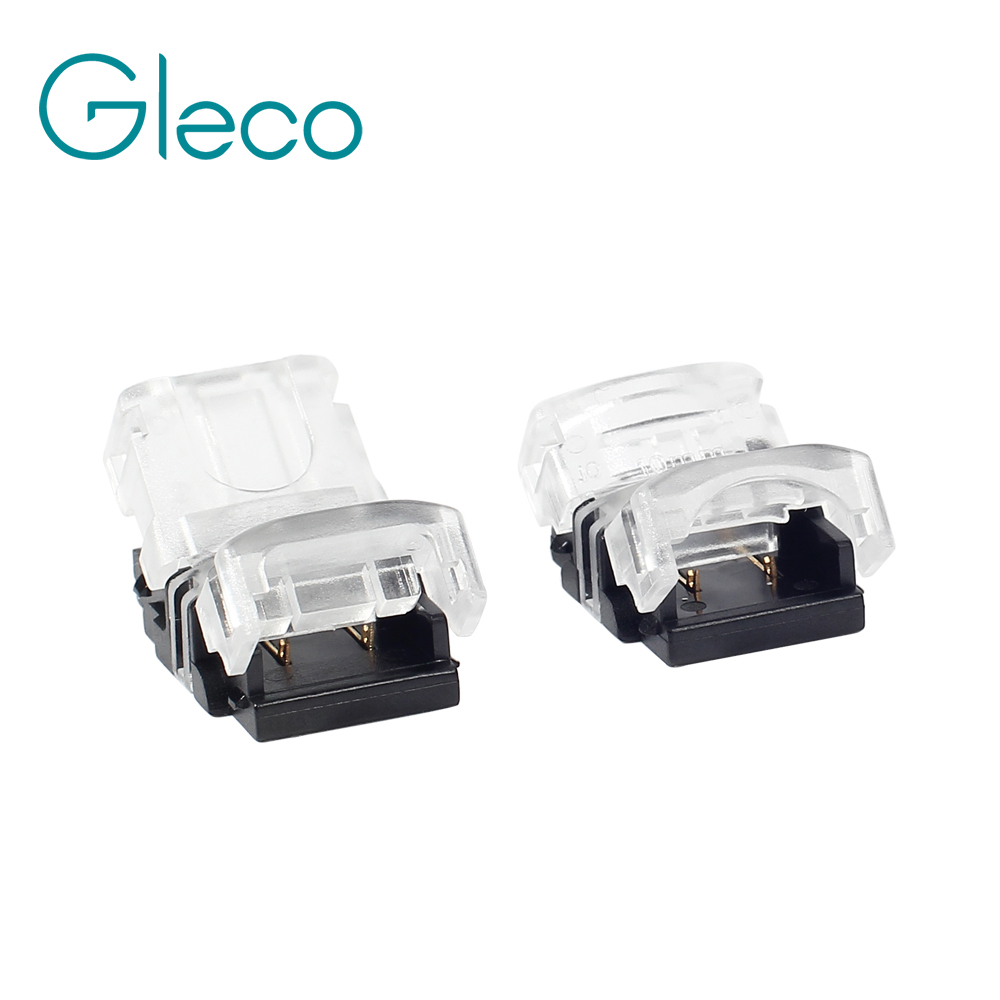 5PCS Quick Connecto 2pin 10mm Connector for LED Strip 5050 5630 5730 to Wire Cable Connectotion Terminals No Screws No Soldering 5pcs t shape 2 pin scotch lock quick splice wire wiring connector for 22 18awg led strip wire car audio cable terminals crimp