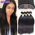 Amazing Brazilian Virgin Hair Straight With Closure Professional Silk Base Frontal With Bundles Great Brazilian Straight Hair