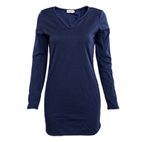 2016 Hot Style Women Lady Dress Pullover Jumper V Neck Long Sleeve Cotton Sexy Party Autumn