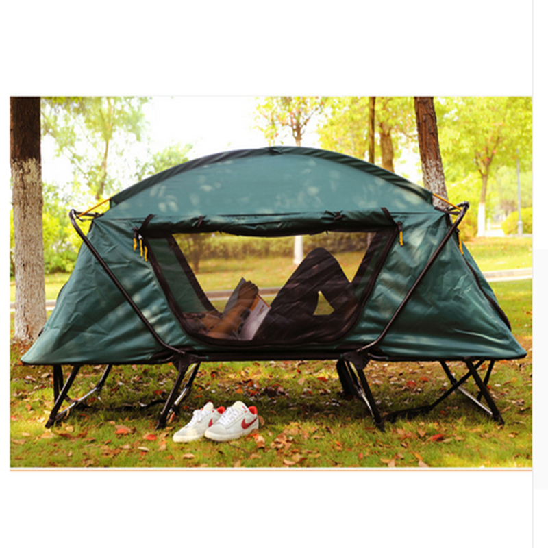 Bed Automatic Camping Tent 1-2 Person Fishing Tourist Tents outdoor camping tent hydraulic automatic family 4 person tourist fishing beach tents 3 perosn garden gazebo automatic tent