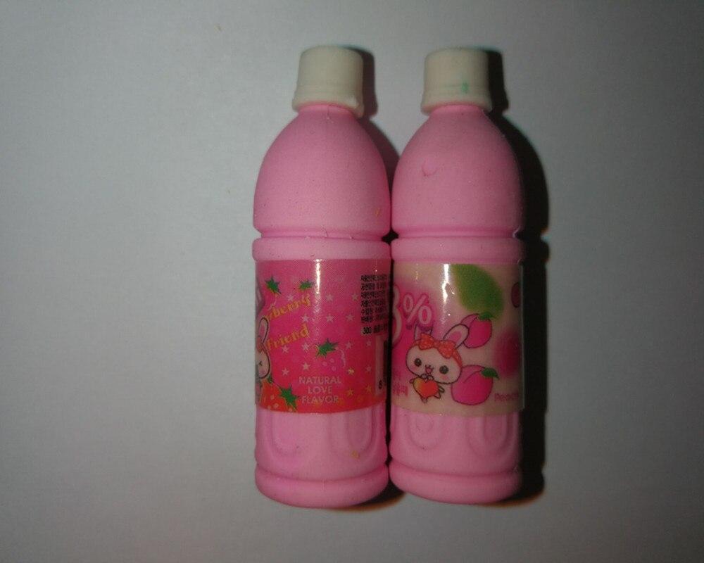 2017 New Arrival 3D Drinkt Bottle Eraser Cute Promotion Eraser Funny School Supply Stationery Pencil Rubber Girl Eraser