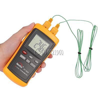 -200~1370C 2 Channel K-Type Digital Thermometer Thermocouple Sensor Tester New