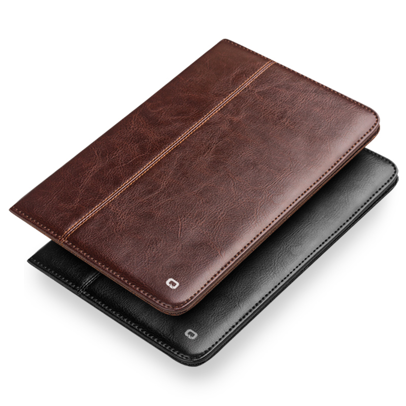 QIALINO Ultrathin Luxury Genuine Leather Case for iPad 2/3/4 Bag Flip Stents Dormancy Stand Cover Card Slot Case for iPad 2/3/4 leather case flip cover for letv leeco le 2 le 2 pro black