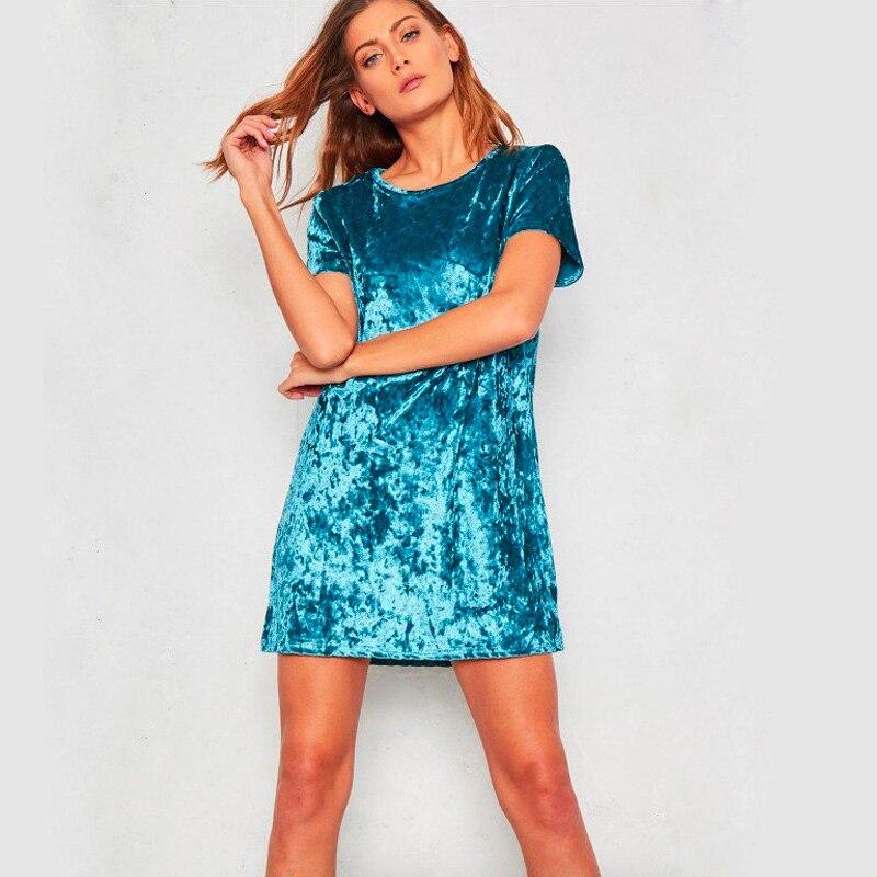 Spring Summer velvet dress women short-sleeved HTB14fEhdVLM8KJjSZFBq6xJHVXad