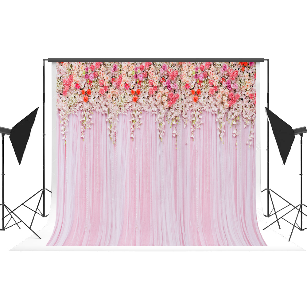 Backdrops for Photography Cotton Flower Curtain Wall Fotografica Professional Wedding Background for Fond Studio Photo Kate 7x5 kate photographic background spot painting hazy newborn vinyl backdrops photo for studio camera fotografica wall floor