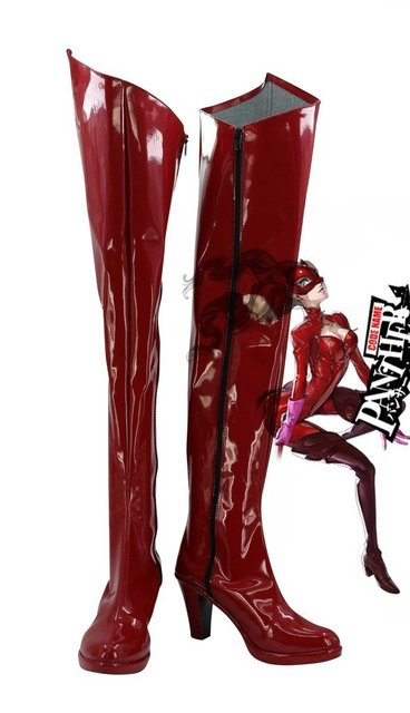 P5A the Day Breakers Persona 5 Kaitou Anne Takamaki Cosplay Shoes Boots Custom Made