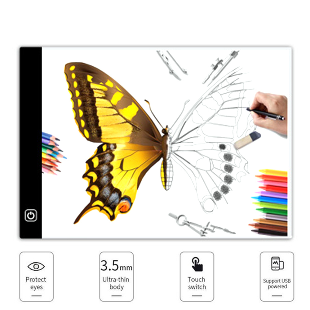 Huracan diamante pintura Lightboard Dimmable Led copia A4 luz LED Tablet ultrafino Lightpad diamante bordado