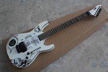 Free shipping New ESP KH-2 OUIJA Limited Edition Kirk Hammett Signature ESP white Electric Guitar 14-5-10(China)