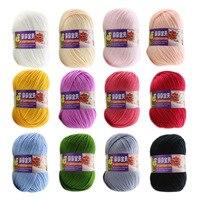 12ピース盛り合わせ色かせアクリル編み糸ボールセット用ベビーキッズハンドニット糸ニットブランケットかぎ針編みハンドクラフト糸