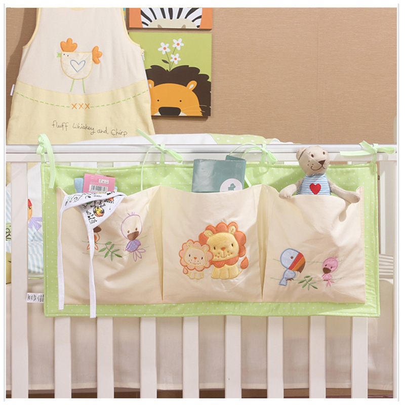 2016 New 100 Cotton Crib Organizer Baby Cot Bed Hanging