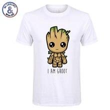 5e4446c85 2018 nowy jestem groot t koszula mężczyzna na co dzień moda tshirt chłopiec  dziewczyna hip hop streetwear koszulka bluzka Haraju.