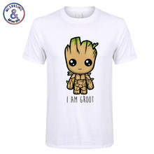 2018 New I Am groot t shirt men Casual Fashion tshirt boy girl hip hop streetwear t-shirt  harajuku top tees camisetas hombre(China)