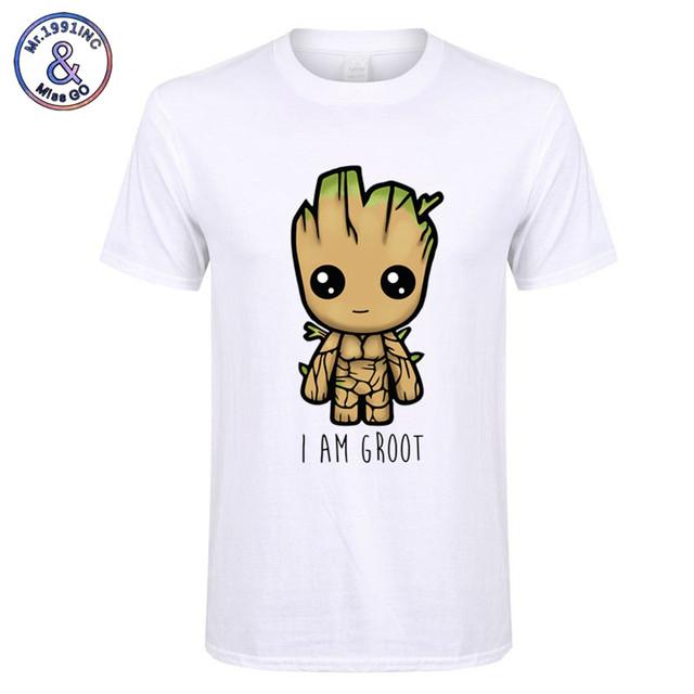 2018 New I Am groot t shirt men Casual Fashion tshirt boy girl hip hop streetwear t-shirt  harajuku top tees camisetas hombre