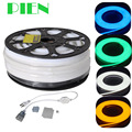 220V 110V Flex LED Neon Rope Light 25m 50m 100m Indoor Outdoor for Holiday Party Valentine Decoration Blue Yellow White by DHL