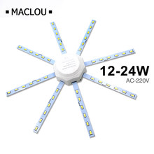 High Bright LED Ceiling Lamp Tube Energy Saving Indoor Lamp Plafon 12W 16W 24W 220V PCB Board Modified Bulb Plate Octopus Lights(China)