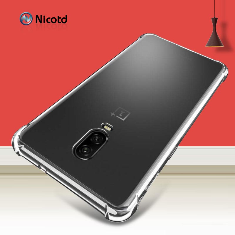For Oneplus 5T Case <font><b>One</b></font> <font><b>plus</b></font> 6T Case Nicotd 1 + Transparent Soft Case Oneplus 3 3T 5 5T OnePlus <font><b>6</b></font> Silicone Back <font><b>Cover</b></font> <font><b>Phone</b></font> Case image