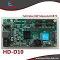 HD-D10 D10 RGB перемычки двери полноцветный 256 серой шкалы крыши такси, реклама на автобусах СВЕТОДИОДНЫЙ дисплей контроллера карты поддерживает 384*64 пикселей
