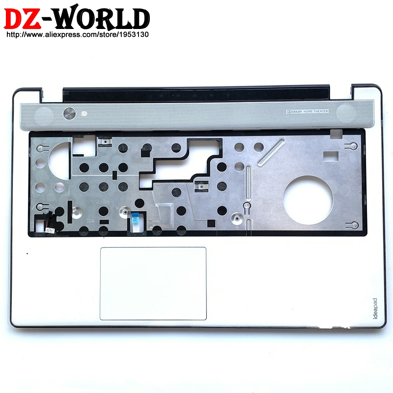 New/Orig Keyboard Panel Bezel Palmrest Cover White For Lenovo Ideapad Z580 Z585 With Touchpad And Cable 3KLZ3TALV20 90200639